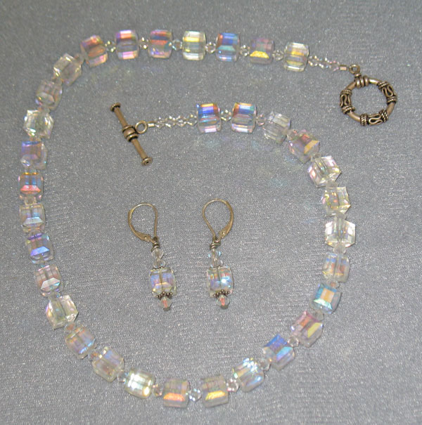 Crystal Cube Jewelry