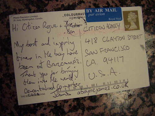 Postcard from James