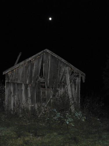 The moon over the old shed