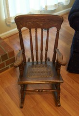 Rocking chair needs a seat cover