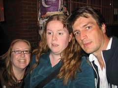 Me, Kristy, and Nathan Fillion!