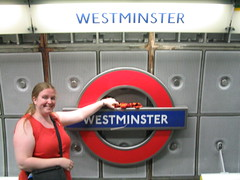 The sock at the Westminster Tube station