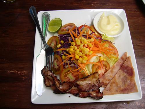 Ham n Bacon salad