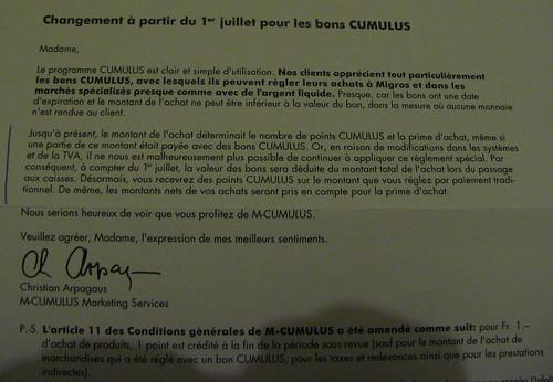 Lettre M-CUMULUS