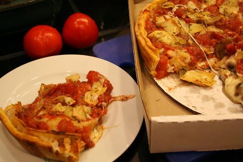 Zachary's stuffed pizza
