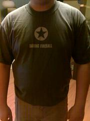 Me in the Daring Fireball T-shirt
