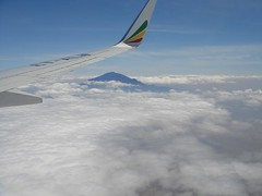mt.meru from etiopia air