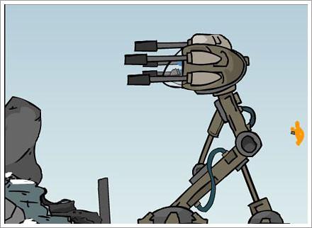 stickfigure shootout animation