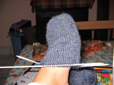 First sock different angle