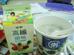 juice and porridge at 7-eleven
