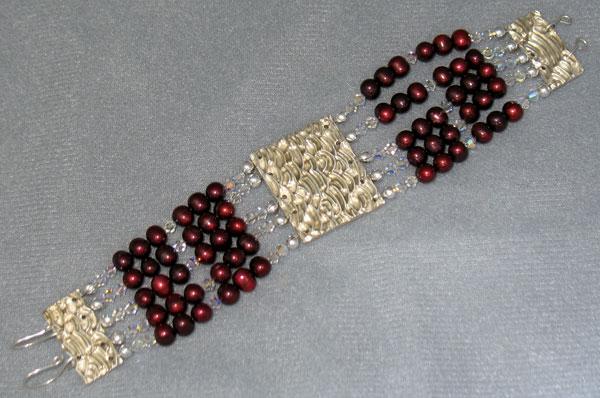 Handmade fine silver bracelet components