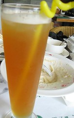 green tea + grapefruit juice