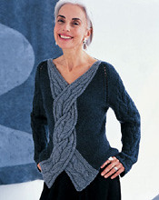 Grey Cable Sweater