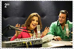 Vidya Balan With Sanjay Dutt at Radio
