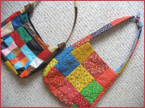 vintage patchwork bags