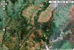 Kuala Kapuas dan Dadahup di Google Maps.