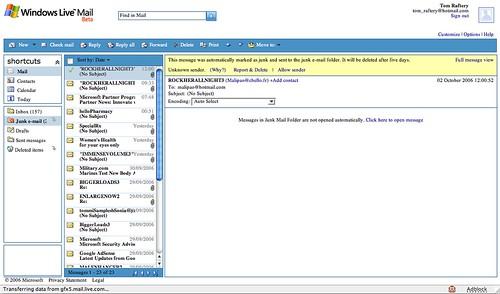 Microsoft's Live mail