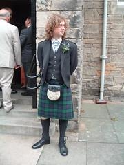 In a kilt, St Andrews