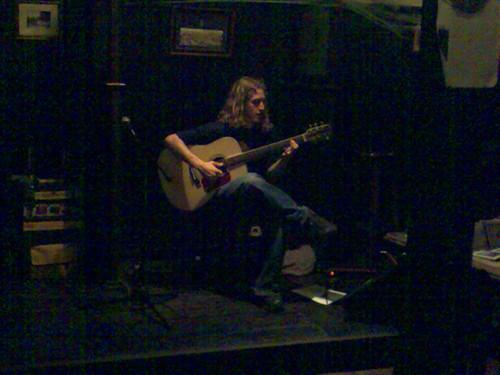 Lee Westwood en pleno concierto