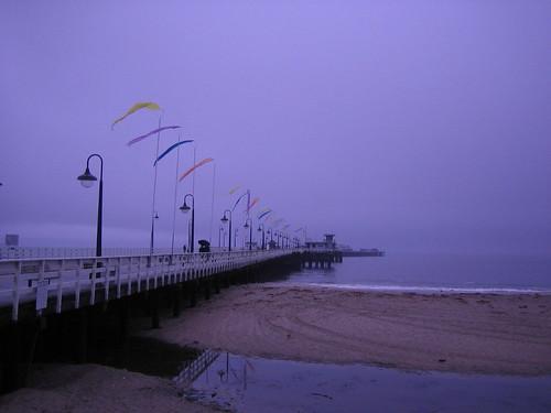 Santa Cruz Wharf in the rain