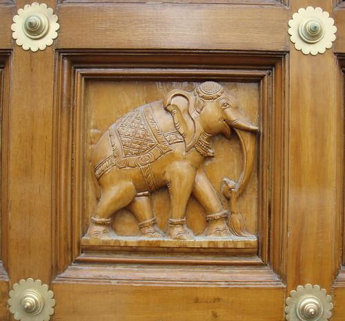Doorway Elephant - Sri Senpaga Vinayagar Temple