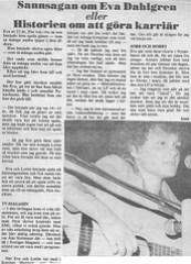 Intervju med Eva Dahlgren 1979