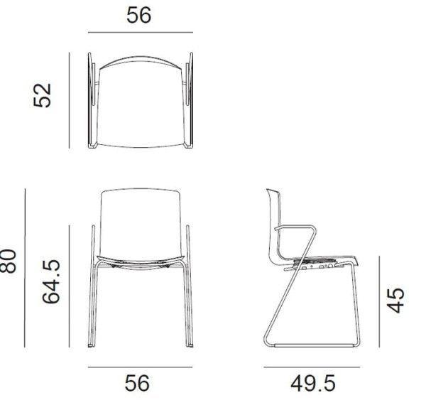 Arper Catifa 46 Sled stoel  FLINDERS verzendt gratis