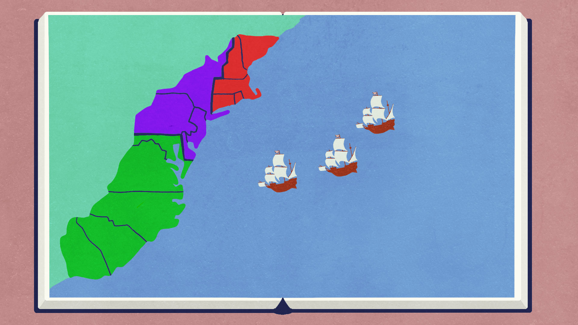 Map Of The 4 New England Colonies