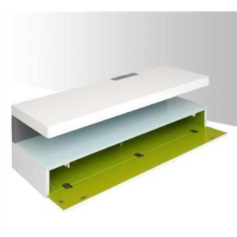 erard meuble tv 3 plateaux blanc laque et vert anis ice box