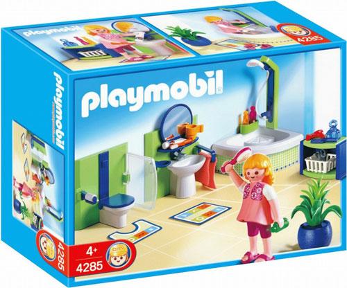 playmobil family salle de bain