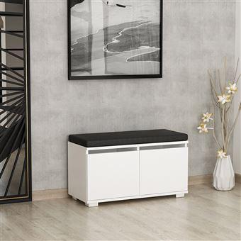 homemania meuble a chaussures drago compacte avec etageres pour entree blanc en bois 80 x 35 x 42 cm