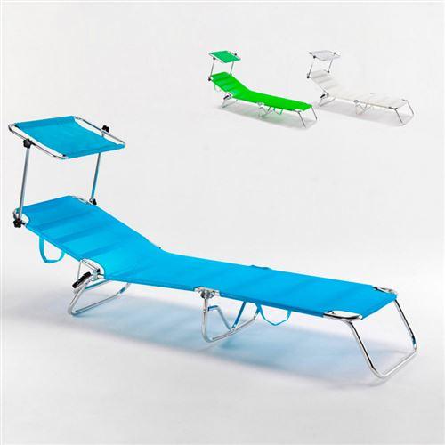 lit de plage pliant bain de soleil transat piscine portable cancun
