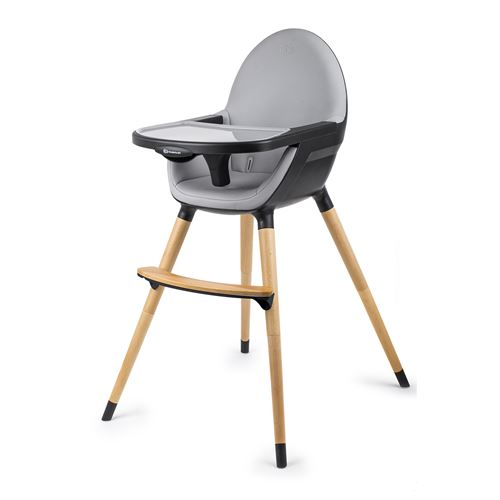 kinderkraft chaise haute bebe evolutive 2 en 1 fini plateau reglable tablette amovible noir