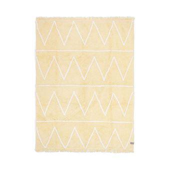 tapis pour chambre d enfant jaune lavable en machine hippy lorena canals