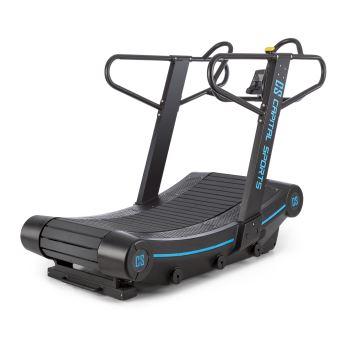 capital sports runatic curved tapis de course courbe 50 x160 cm 6 niveaux pulsometre ecran lcd support tablette