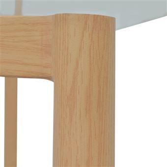 vidaxl vidaxl table de salle a manger de cuisine meubles de maison plateau en verre transparent 120 x 70 x 75 cm