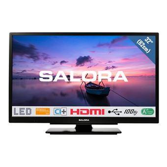 salora 32hdb6505 classe 32 6500 series tv led avec lecteur dvd integre 720p 1366 x 768 led a eclairage direct noir