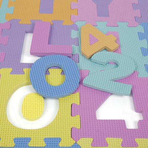 36 pcs puzzle tapis mousse bebe alphabet et chiffres 16x16 cm enfant bas age