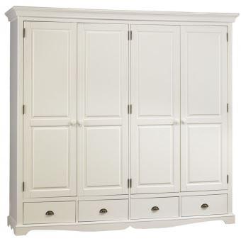 grande armoire penderie blanche de style anglais