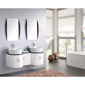 meuble salle de bain double vasque luxe beau meuble double vasque 120 cm tiger installations salles de bain achat prix fnac
