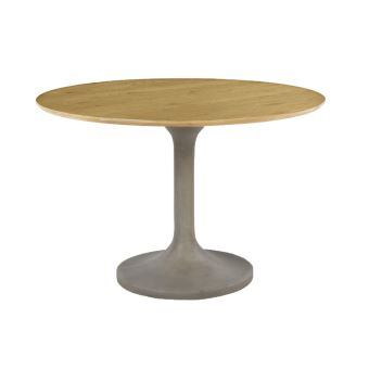 table a manger ronde chene et beton 110