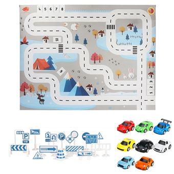 tapis de jeu pour enfants batiments la route ville jeu voiturete stationnement jouets educatifs gymnases pour bebes multicolore