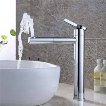 homelody robinet salle de bain haut bec pivotant 360 mitigeur pour vasque robinetterie de lavabo en laiton