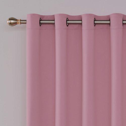 deconovo oeillets rideau occultant isolant thermique rideau chambre adultes design moderne pour enfant fille pale rideau grande largeur 254x242 cm