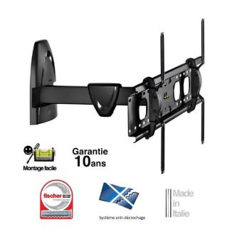meliconi r 800 support tv mural orientable 50 80 double bras
