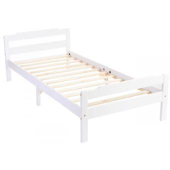 lit simple en bois massif avec led dim 90x200 cm pegane