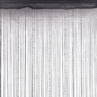 rideau fils fantaisie brillant noir dimensions 90x240cm