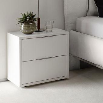 chevet design blanc laque mat venise
