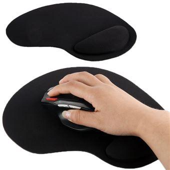 tapis souris pc repose poignet ergonomique anti derapant ultra fin noir yonis