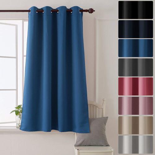 deconovo rideau isolant thermique rideau occultant oeillet rideau pour livingroom 132x160cm bleu fonce